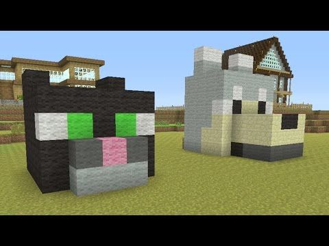 Minecraft Tutorial How To Make A Easy Dog And Cat House Youtube
