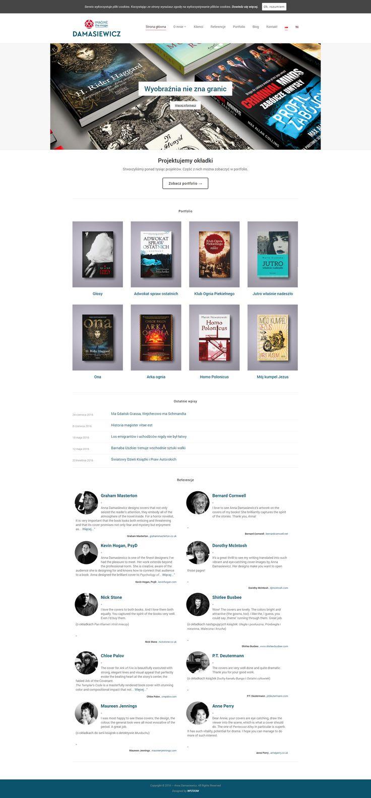 Projekty okładek - strona internetowa #wordpress #stronywww