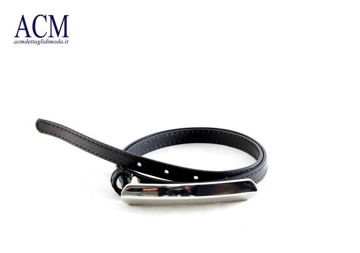 Cintura donna in vera pelle con maxi fibbia lucida #belt #leather #woman