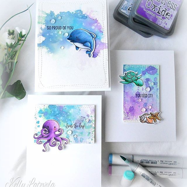 I'm super excited to be guest designing for @pinkandmain today! I hope you'll head over to their blog and check out the video showing these adorable sea creatures!