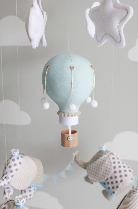 Elephant Baby Mobile Elephants and Hot Air by sunshineandvodka