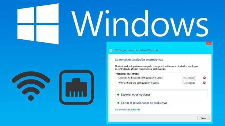 Solucionar el error IP no válida cuando intentamos conectarnos a Internet con un ordenador con Windows 10, 8 o 7. #Microsoft #Windows #Wifi #Ethernet #Internet downloadsource.es