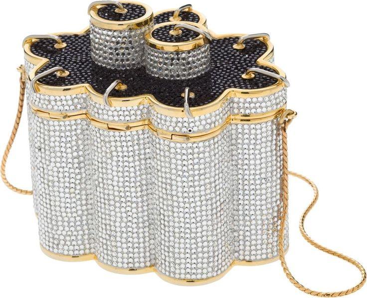 Judith Leiber Chinese Fireworks Gold Minaudiere Evening Bag Clutch Vintage #JudithLeiberLieberdesignercouture #ClutchEveningBagShoulder