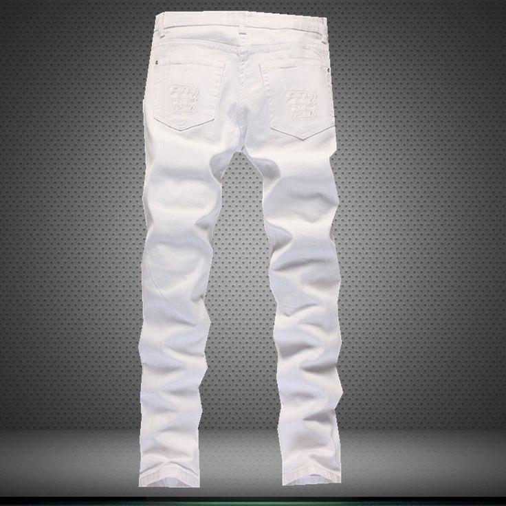29.40$  Watch here - https://alitems.com/g/1e8d114494b01f4c715516525dc3e8/?i=5&ulp=https%3A%2F%2Fwww.aliexpress.com%2Fitem%2F2016-Nightclubs-Hole-Jeans-Famous-Brand-Men-Biker-Jeans-Pleated-White-Motorcycle-Jeans-For-Men-Designer%2F32669198279.html - 2016 Nightclubs Hole Jeans Famous Brand Men Biker Jeans Pleated White Motorcycle Jeans For Men Designer Jeans Mens Denim Joggers 29.40$