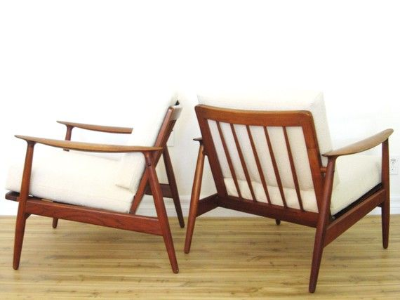 I love these Danish Modern chairs