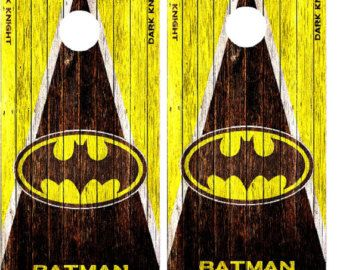 Batman Triangle Cornhole Wrap Wraps Set High Quality Vinyl Board DECAL w