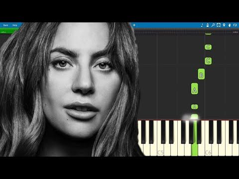 Always Remember Us This Way Easy Piano Tutorial Lady Gaga A