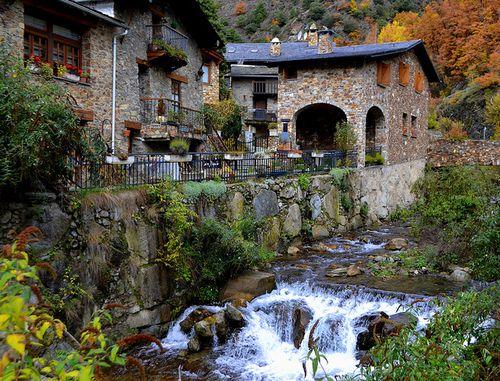 ANDORRA Bixessarri, Andorra. Mountain village near Sant Julia de Loria.