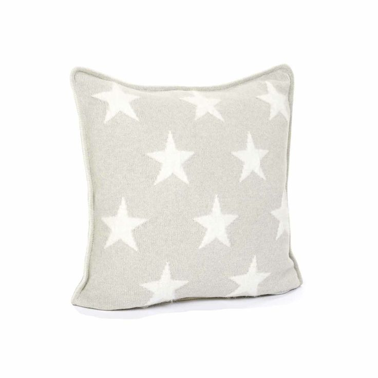 Gant Angora Ten Star Kissenbezug 50 x 50 cm soft grey melange