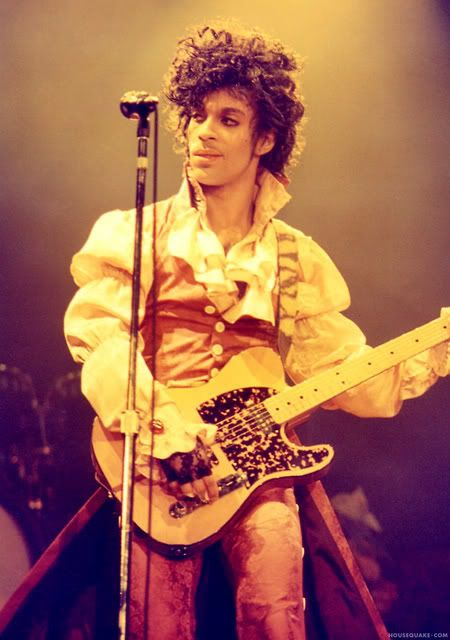 Purple Rain tour, 1984. Come back, Prince! Or weird symbol... I named my blog after you. We miss your unique music and funky take on pop music.