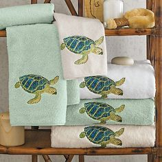 Buy Island Sea Turtle Towels online at Gump's