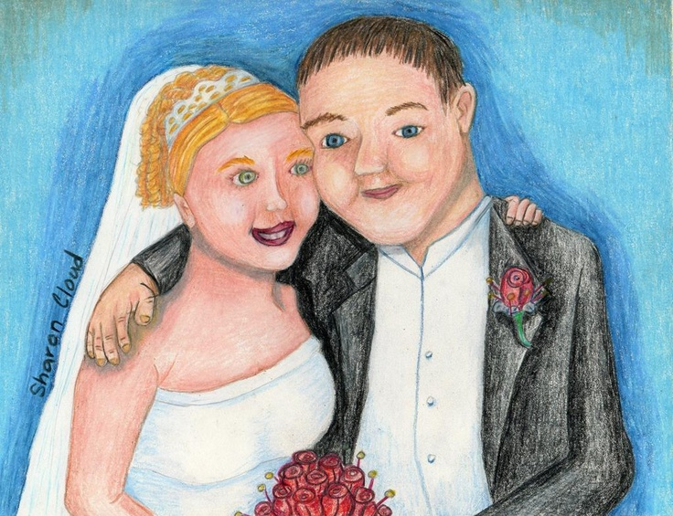 9x12 colored pencil wedding portrait of my oldest niece.