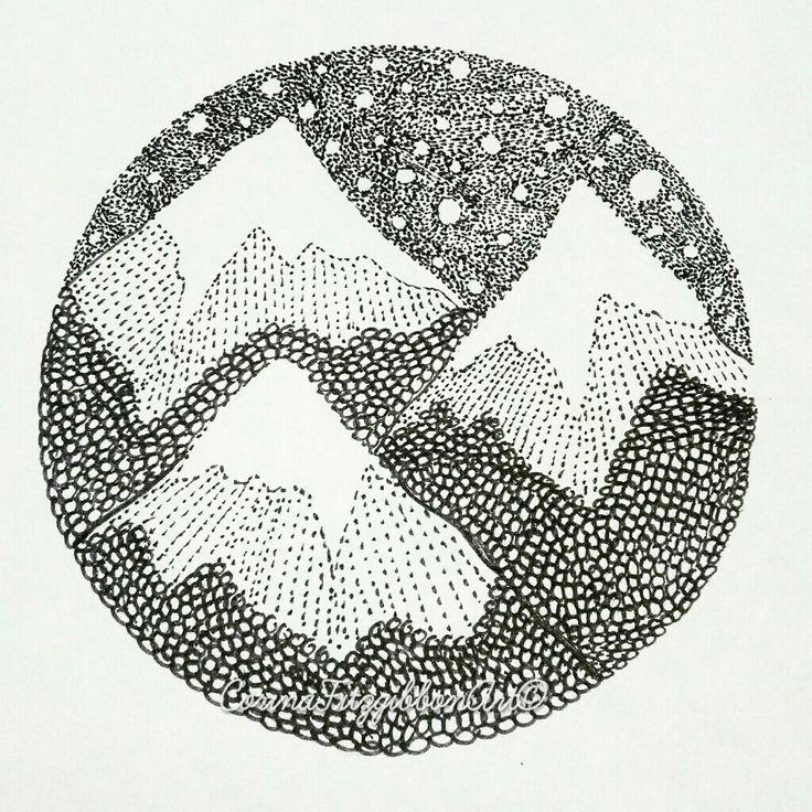 """Everest"" Original Pen Drawing || Mountains || Nature || Outdoors || Illustration || Irish Art || Irish Artist || Art || CorinaFitzgibbonArt© All rights reserved."