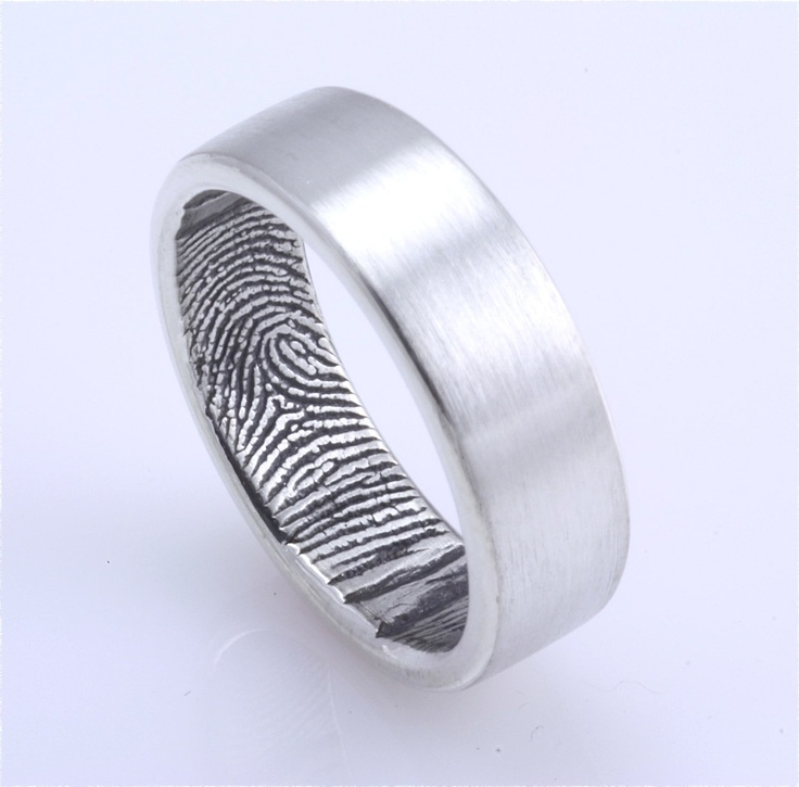 Fingerprint Ring Sterling Silver Our Original Fingerprint Wedding