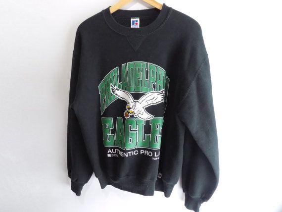 EAGLES SWEATSHIRT // 90s // Medium // Philadelphia by AirmailPHL