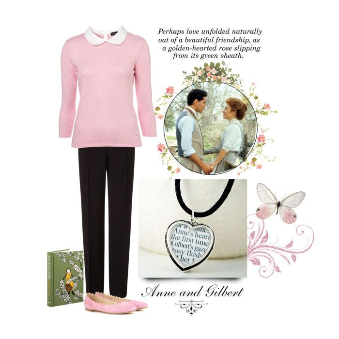 Anne and Gilbert: Spend #ValentinesDay in Avonlea with this sweet #AnneOfGreenGables #outfit inspired by my favorite literary couple, #AnneShirley and #GilbertBlythe. Featuring handmade #literaryjewelry from the C. S. Literary Jewelry #Etsy shop, this outfit is perfect for everyday #romance with your best friend.