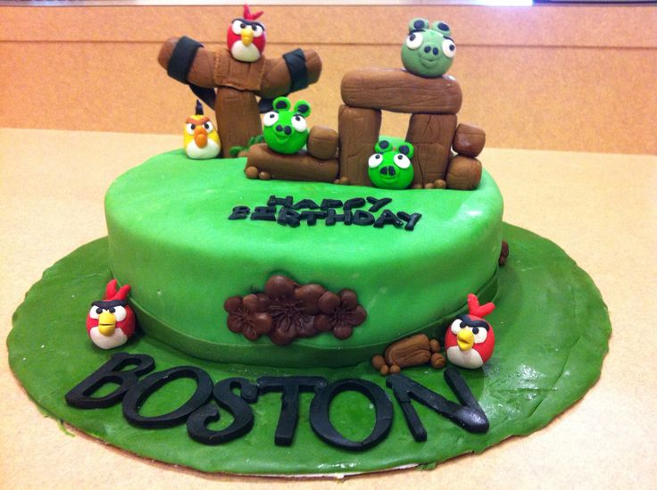 Angry birds cake. Check out our Facebook page Ruzakos gift shop