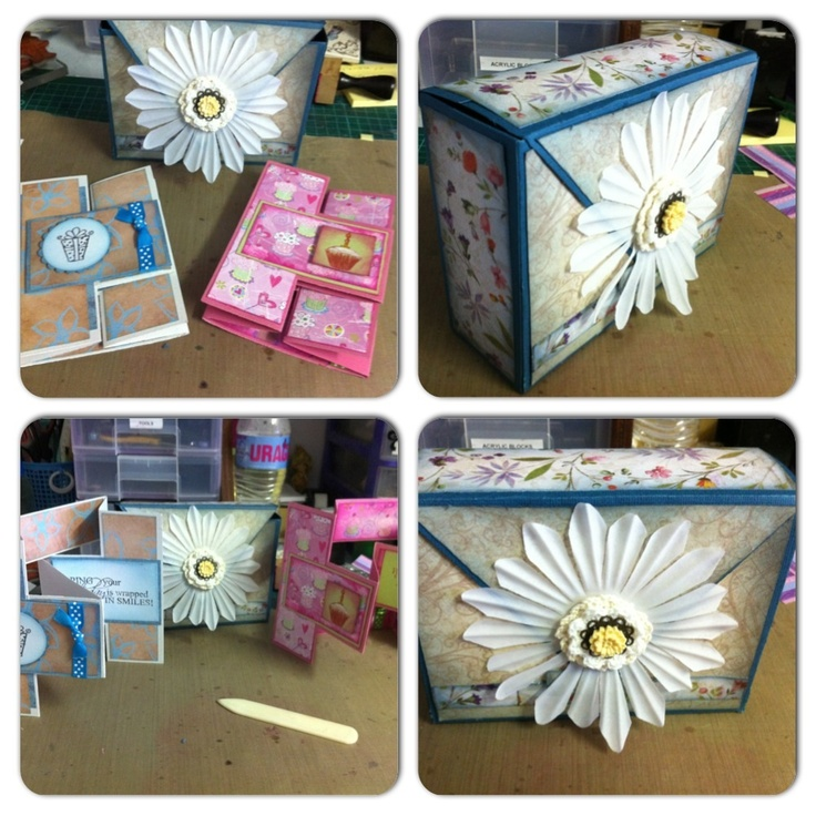 Card Box and Trifold Cards...Made with Kaszazz products...created by Rae