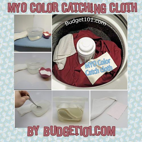 Homemade Laundry Color Catcher Sheets- prevent color bleeds in the wash with this simple DIY Recipe (Click on photo for more)