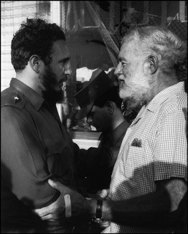 Havana, cuban leader Fidel Castro and Hemingway during the Hemingway fishing tournament, summer of 1960