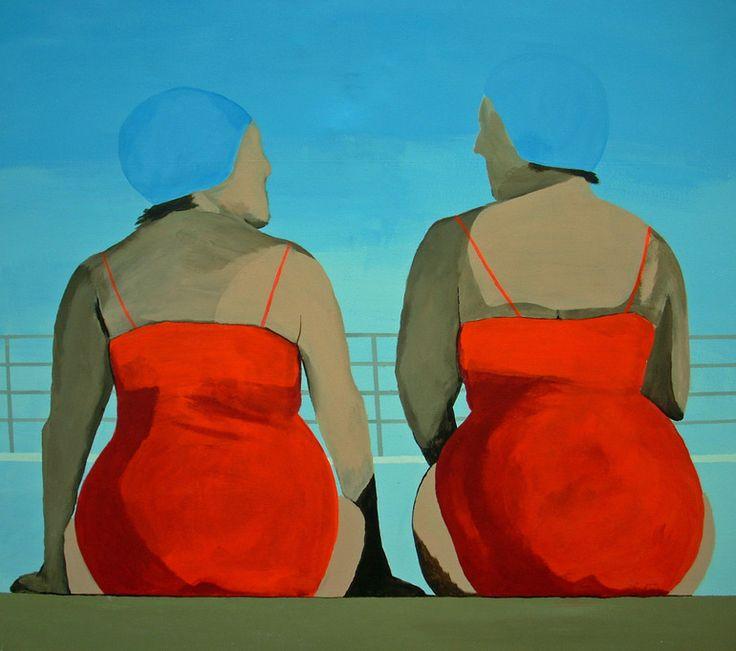 Saatchi Online Artist: Susanne Boehm; Acrylic, 2011, Painting Backside