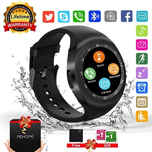 Bluetooth Smart Watch Touchscreen with Camera,Unlocked Watch Cell Phone with Sim Card Slot,Smart Wrist Watch,Waterproof Smartwatch Phone for Android Samsung IOS Iphone 7 6S Men Women Kids #Bluetooth #Smart #Watch #Touchscreen #with #Camera,Unlocked #Cell #Phone #Card #Slot,Smart #Wrist #Watch,Waterproof #Smartwatch #Android #Samsung #Iphone #Women #Kids