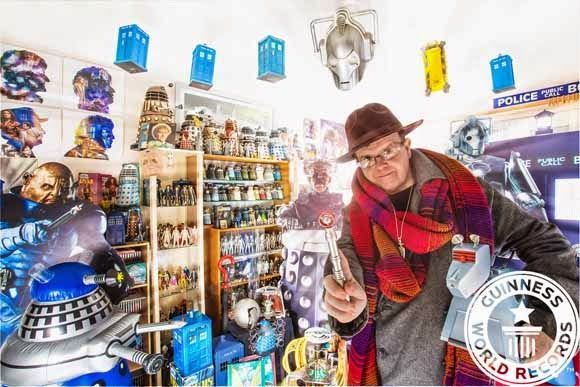 Guinness world record - Man with the largest Doctor Who collection