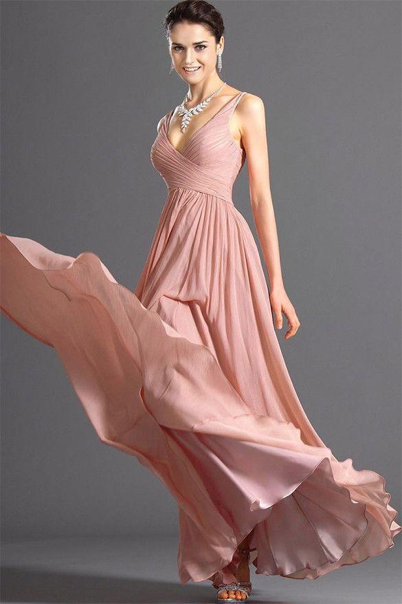 Stylish Lady Women's New Fashion Sexy Sleeveless Backless Deep V-neck Party Ball Dress