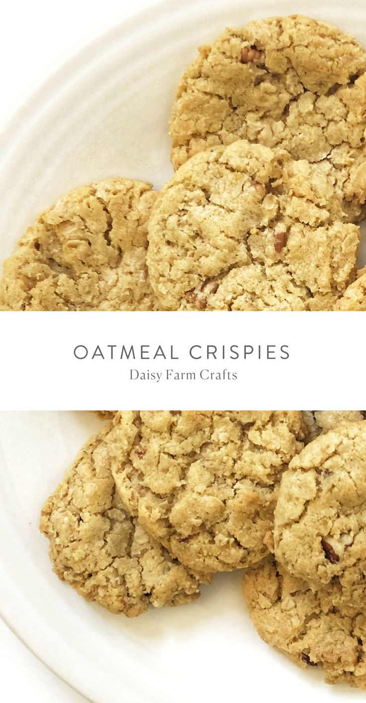 Oatmeal Crispies Cookies Daisy Farm Crafts Sweet