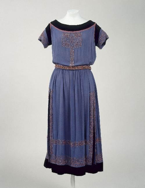 Dress  Jeanne Lanvin, 1920  Musée Galleira de la Mode de la Ville de Paris