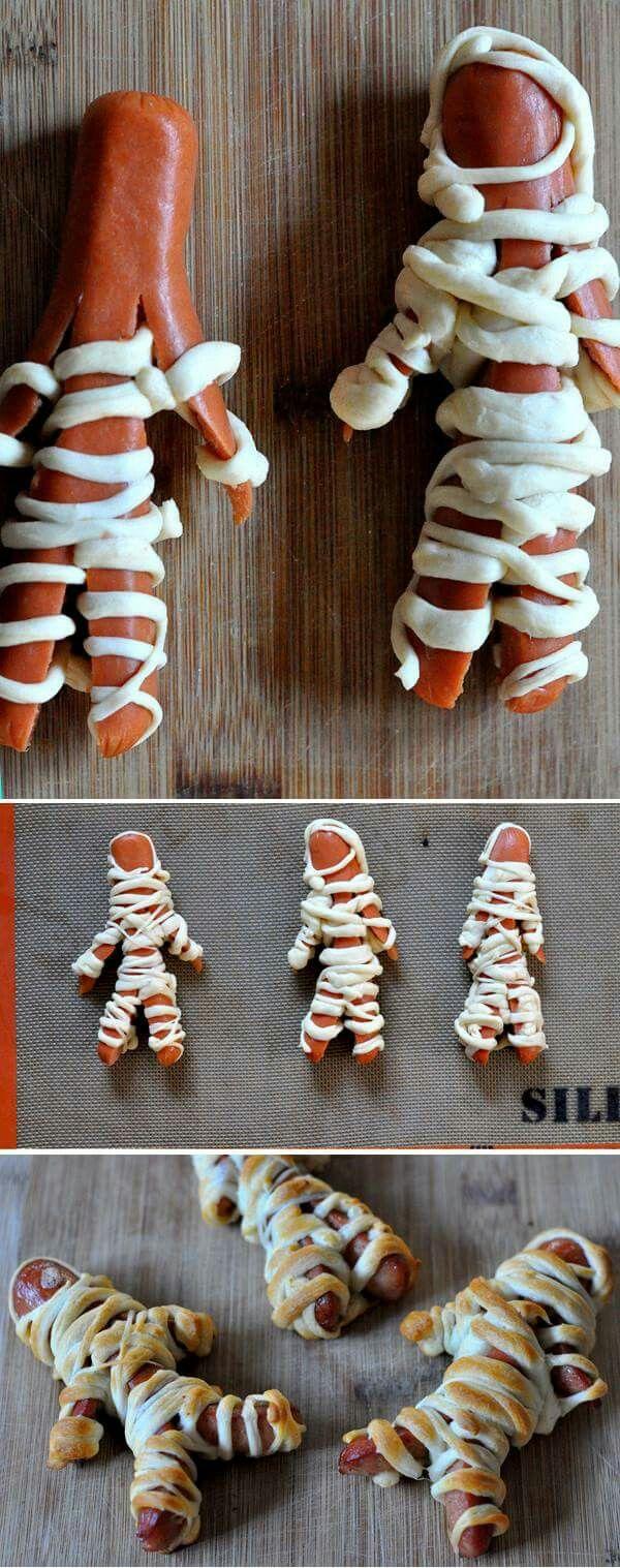 How To Make Hotdog Mummies