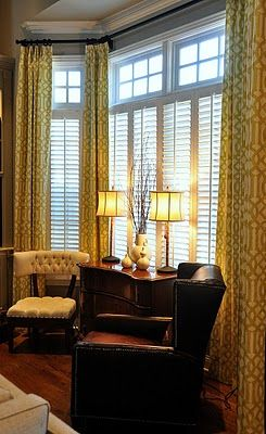 Love how they did the window treatment home decor pinterest window treatments cool - Cool living room window designs ...