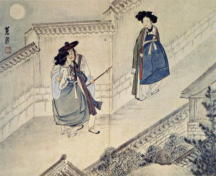 Shin Yun Bok / Hyewon : A secret meeting under the moon 월야밀회 (月夜密會) 1805