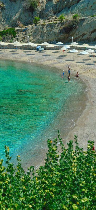 Istron bay beach in Istron, Lasithi, Crete