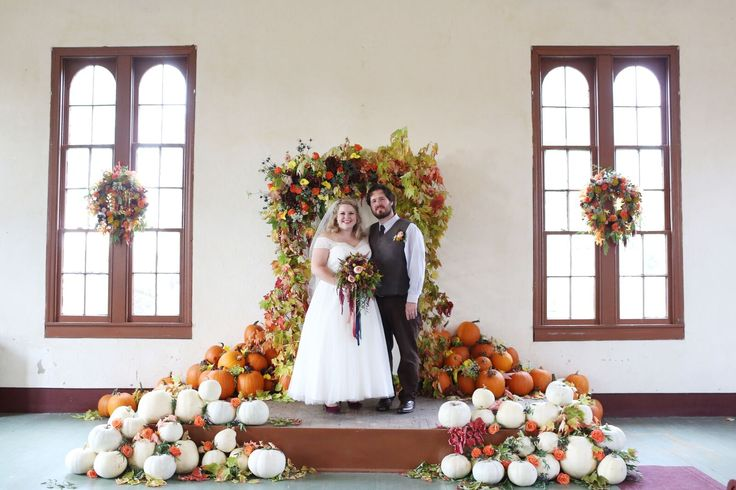 Fall Wedding Floral Arch Julie James Design