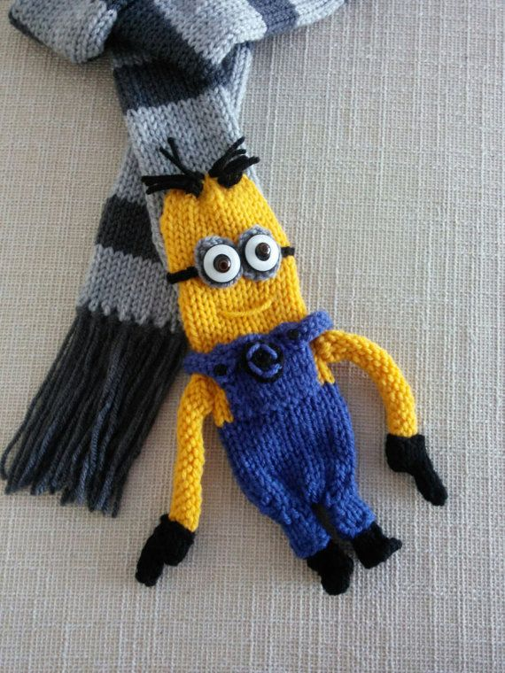 Yellow minion scarf by Jackthemanabouttown on Etsy