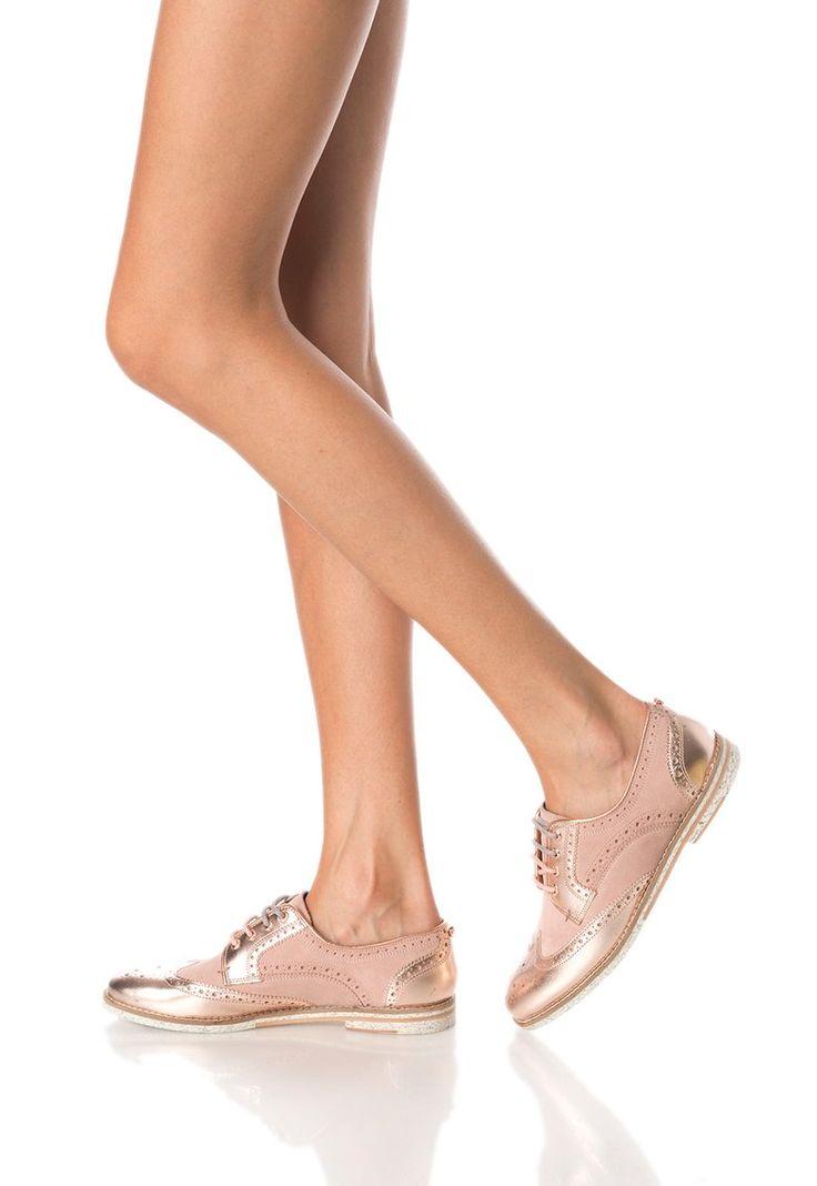 Тъмнорозови обувки Derby от кожа и велур на Ted Baker и още много други продукти във Fashion Days