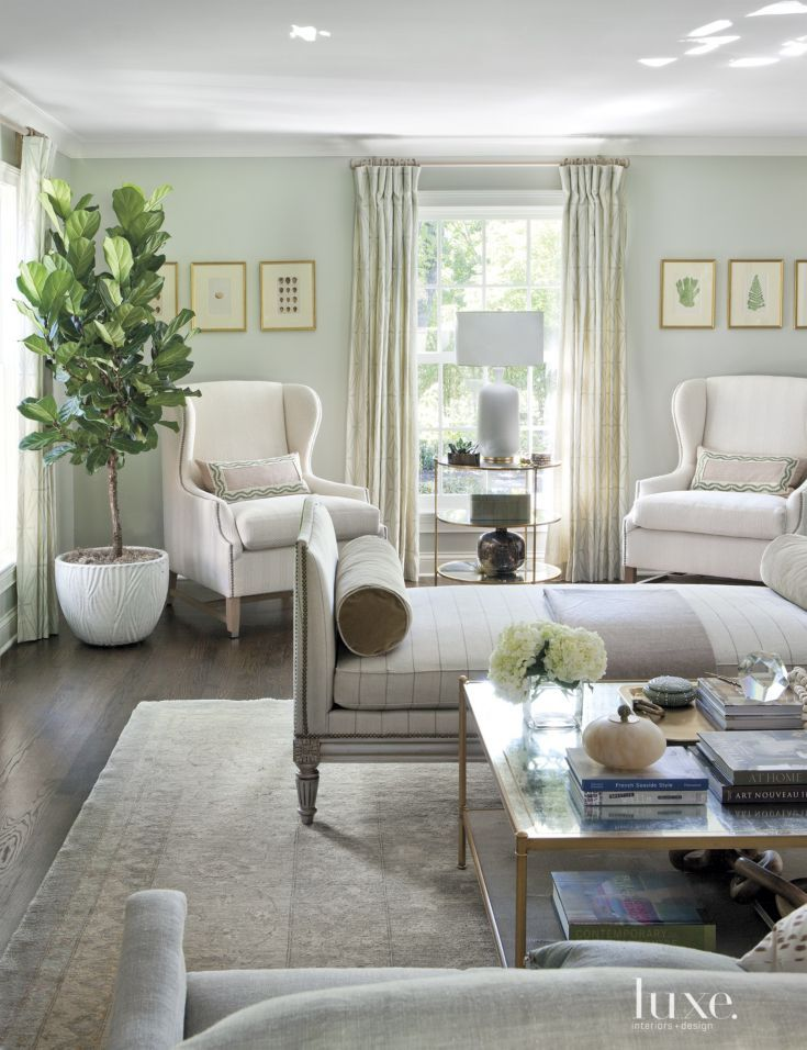 Bouclé   Chairs by Verellen, covered in a cream bouclé become the perfect spot for reading or sipping morning coffee.