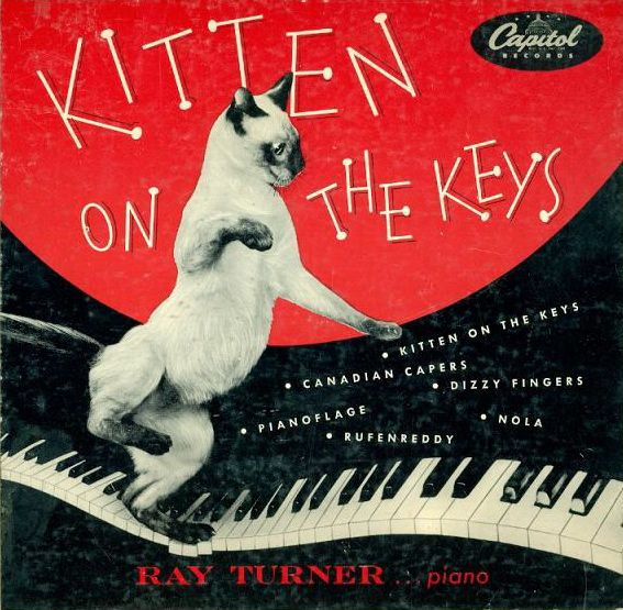 Kitten on the Keys-Capitol record album cover with Siamese cat