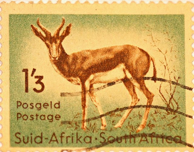 South African Stamp. BelAfrique your personal travel planner - www.BelAfrique.com