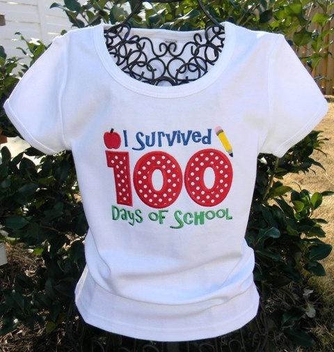 100 Days Of School Shirt 2200 Via Etsy Birthday Shirts