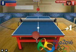 No te quedes fuera en las olimpiadas de Rio 2016 en la categoría de tenis de mesa. Demuestra tus habilidades como jugador de tenis de mesa para ganar a tus adversarios de las olimpiadas. Mueve la paleta con la ayuda del ratón e intenta que no se te escape ninguna bola. Si te gustan los juegos de deportes, olimpiadas, tenis de mesa o de Ping Pong, te recomiendo que juegues y pruebes este divertidísimo juego de tenis de mesa inspirado en los juegos olímpicos de Rio 2016.