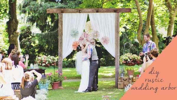 Diy Rustic Wooden Wedding Arbor Every Wedding Ceremony