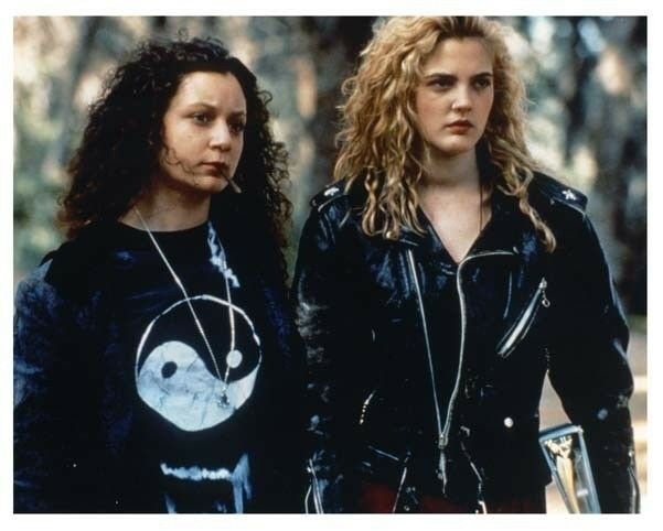 """Sara Gilbert and Drew Barrymore in """"Poison Ivy"""" 1990s grunge style term bad girl movie"""