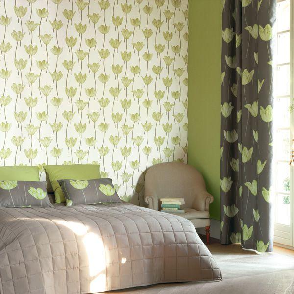 interior decorado con papel pintado jersey jey
