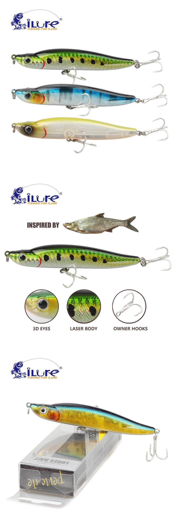 [Visit to Buy] iLure pencil Sea curls bait Spanish mackerel hook  bass fishing tackle artificial bait  fishing tackle Carp lures Free shopping #Advertisement