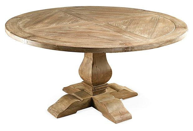 Clara round dining table weathered sand round dining for Round table 52 nordenham