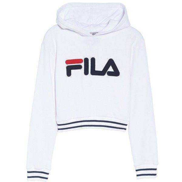 Women's Fila Penelope Crop Hoodie ($41) ❤ liked on Polyvore