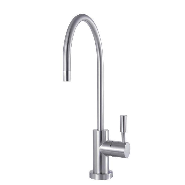 Kingston Brass Modern Drinking Water Reverse Osmosis Single-Handle Filtration Faucet in Satin Nickel