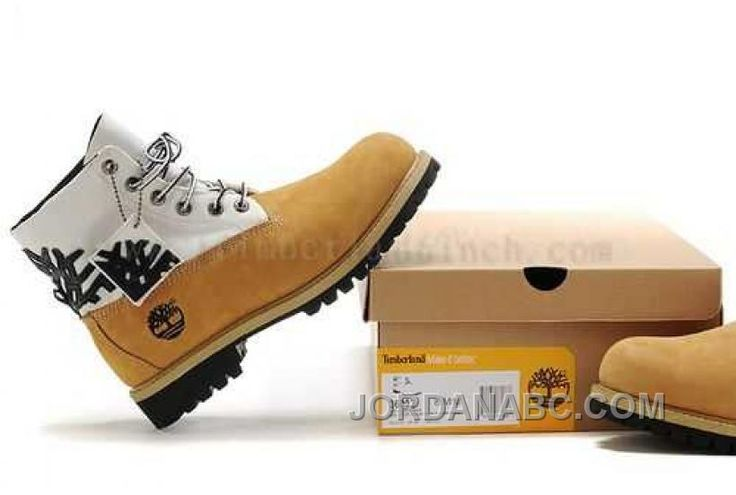 http://www.jordanabc.com/timberland-roll-top-wheat-white-boots-for-mens-on-sale.html TIMBERLAND ROLL TOP WHEAT WHITE BOOTS FOR MENS ON SALE Only $103.00 , Free Shipping!
